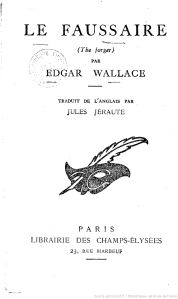 Wallace le faussaire