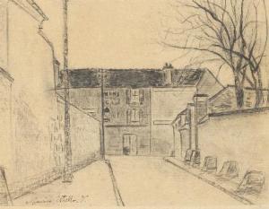 Rue de banlieue 1914