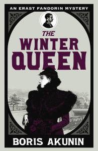 Cover of the English edition of The Winter Queen, published in 2003 by Orion Publishing Co. Originally published as Азазель (Azazel) in Russia in 1998, the novel was translated into English by Andrew Bromfield.